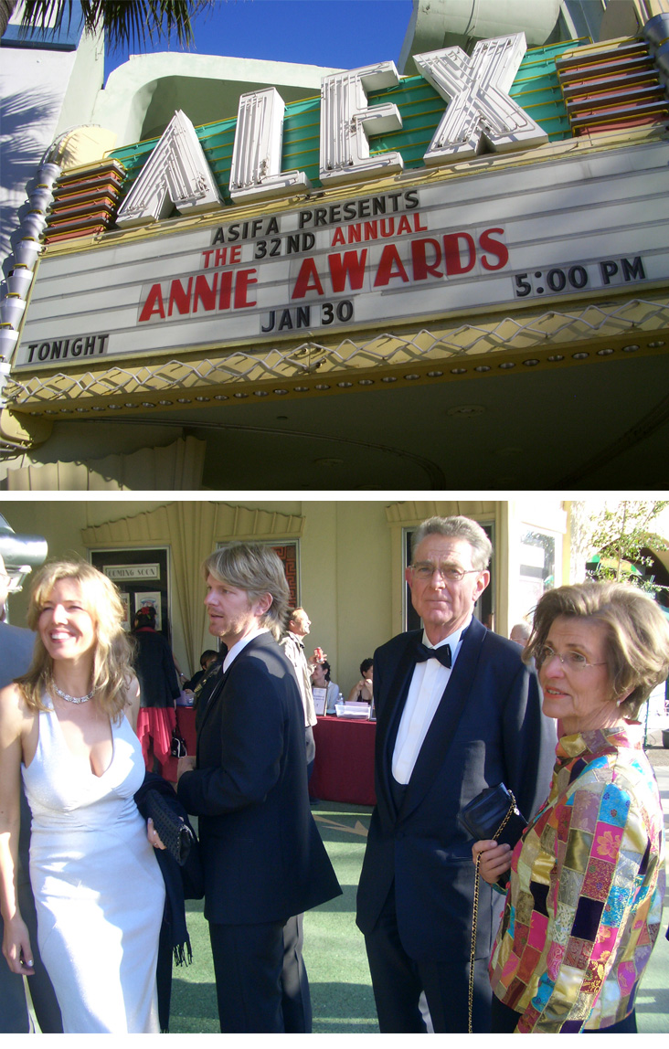 Gregor at the Annie Awards
